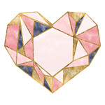 multicolored prism heart