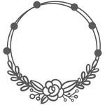 floral bead wreath
