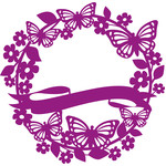 blank butterfly flower wreath