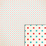 summer blue and red dots background paper