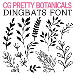 cg pretty botanicals dingbats