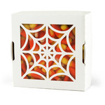 no-glue box halloween boo spider web