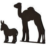 donkey and camel free standing nativity