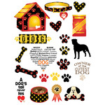 dog-themed planner stickers