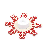 snowflake tea light base