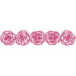 roses repeating border