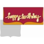 letter-size happy birthday script card kit
