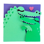 mommy and me menagerie - alligator card