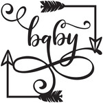 baby arrow frame