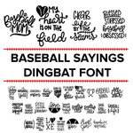 baseball sayings dingbat font