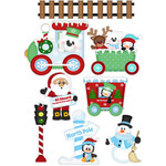 north pole express christmas stickers / die cuts