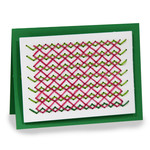 embroidery folded card - criss cross