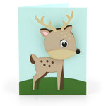bobble head card deer
