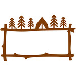 camping branches frame