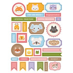 ml cutie animals stickers