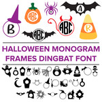 halloween monogram frames dingbat