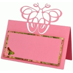 calligraphic butterfly placecard
