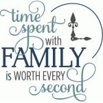 time spent with family second - phrase