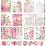 watercolor daisy bouquet planner stickers