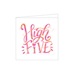 high five folded card