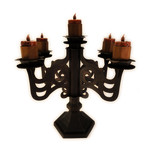 candelabra 3d for tea lights