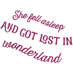 she fell asleep quote
