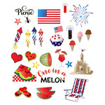 4th of july picnic stickers
