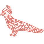 papercut cockatoo bird