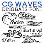 cg waves dingbats