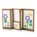 happy spring insert multi fold card