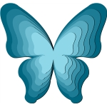 nested butterfly - 3d