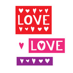 love and hearts icons