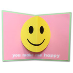 happy face pop-up card