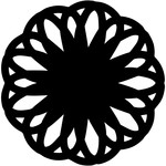lace flower doily