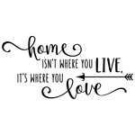 home isn't where you live phrase