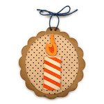 birthday candle ornament