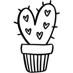 cactus with hearts