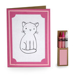 4 in. x 5.5 in. cat coloring card and crayon box