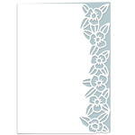 roman flowers lace edged card