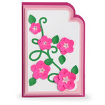 super layered flowers card