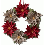 3d paper poinsettia wreath
