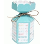 vertical scalloped hexagon candy box