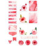 peony watercolor planner stickers