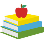 apple on stacked books