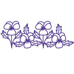 pansies repeating border