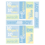 baby boy word stickers