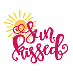 sun kissed summer phrase