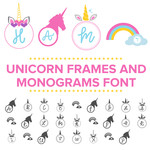 unicorn frames and monograms font