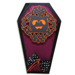 ornate pumpkin coffin card