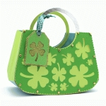circle handle purse shamrocks